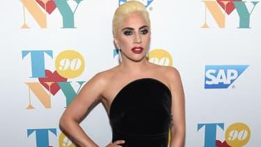 Lady Gaga à New York pour le 90ème anniversaire de Tony Bennett, en 2016