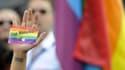 Une manifestation à Madrid en septembre 2013 pour les droits LGBT en Russie.