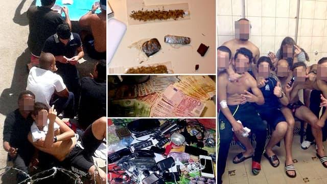 """Des photos de détenus et d'objets interdits en prison publiées sur la page Facebook """"MDR o Baumettes"""", désormais supprimée."""