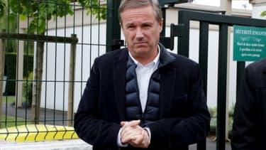 L'ex-candidat à la présidentielle, Nicolas Dupont-Aignan, le 7 mai 2017 à Yerres dans l'Essonne