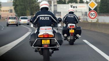 Motards de la police nationale (illustration)