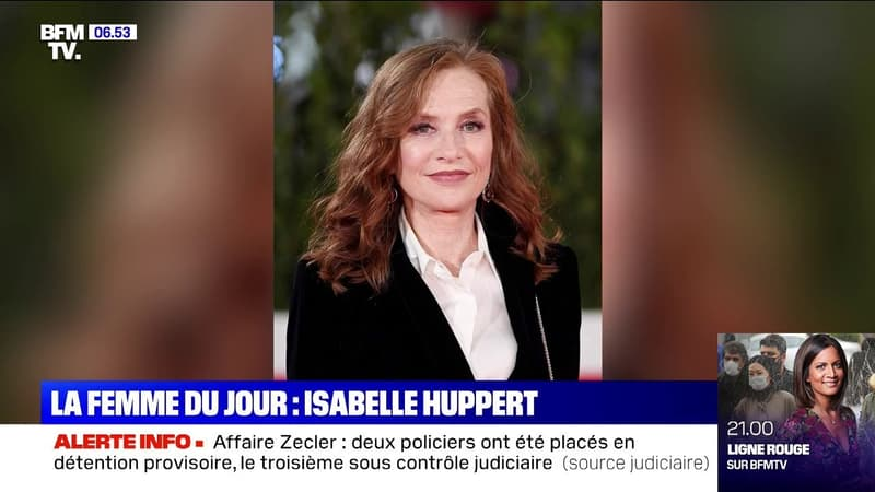 """Élue meilleure actrice du XXIe siècle, Isabelle Huppert témoigne """"d'une très bonne surprise"""" sur BFMTV"""