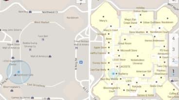 Google cartographie l'intérieur des bâtiments