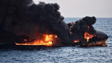 Le Sanchi faisait naufrage, le 14 janvier.