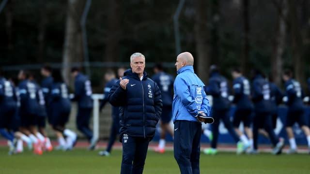 Didier Deschamps avec Guy Stéphan