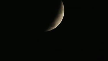 L'éclipse de lune, mercredi 8 octobre, vue de Washington DC, aux Etats-Unis.