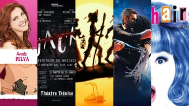 """Les comédies musicales """"Enooormes"""", """"Jack, l'éventreur de Whitchapel"""", """"Les aventures de Tom Sawyer"""", """"Bodyguard, Le Musical"""" et """"Hairspray"""" sont à l'affiche en cette rentrée 2018"""