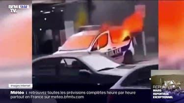 Mulhouse: deux hommes soupçonnés d'avoir incendié un véhicule de police ont été placés en garde à vue