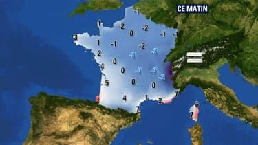 Les températures pour le jeudi 13 novembre.