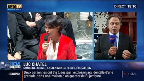 """Réforme du collège: Manuel Valls dénonce des """"mots insupportables"""" de Nicolas Sarkozy contre Najat Vallaud-Belkacem"""