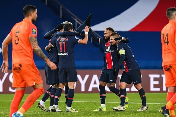 Neymar et Verratti face à Montpellier