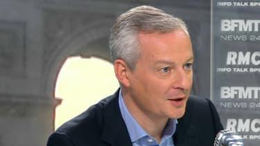 Bruno Le Maire mercredi matin sur BFMTV et RMC.