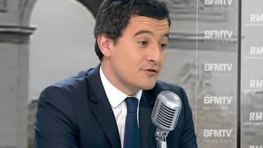Gérald Darmanin sur le plateau de BFMTV, le 17 novembre 2014.