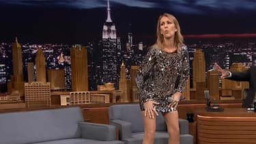 Céline Dion sur le plateau de Jimmy Fallon, le 21 juillet 2016.