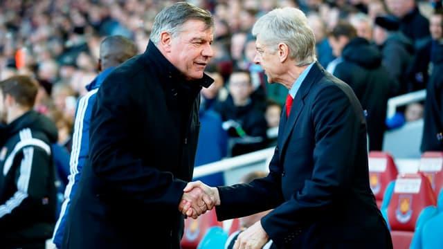 Sam Allardyce et Arsène Wenger