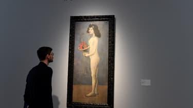"""""""La fillette à la corbeille fleurie"""" de Picasso au Rockfeller."""