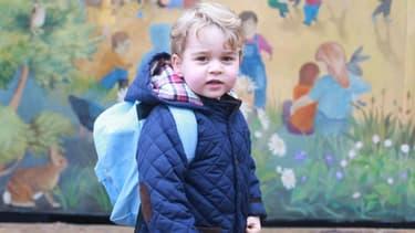 Le Prince George lors de sa rentrée à la crèche