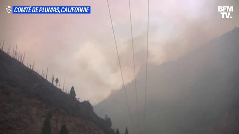 """En Californie, le """"Dixie Fire"""" continue de s'étendre et dépasse désormais les 34.000 hectares"""