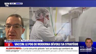 """Vaccin anti-Covid: Stéphane Bancel (Moderna) espère """"avoir une approbation en Europe avant la fin de l'année"""""""