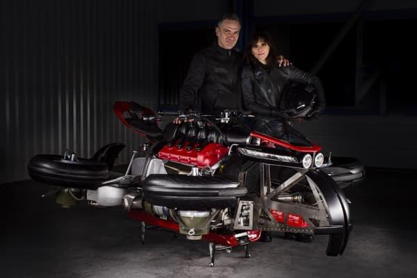 Ludovic Lazareth a inventé cette machine qui a été testée par sa compagne, Vanessa