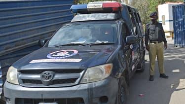 Image d'illustration - policier à Karachi (Pakistan) le 15 avril 2021