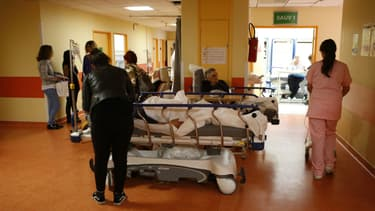 Les urgences de l'hôpital de Bastia en Corse.