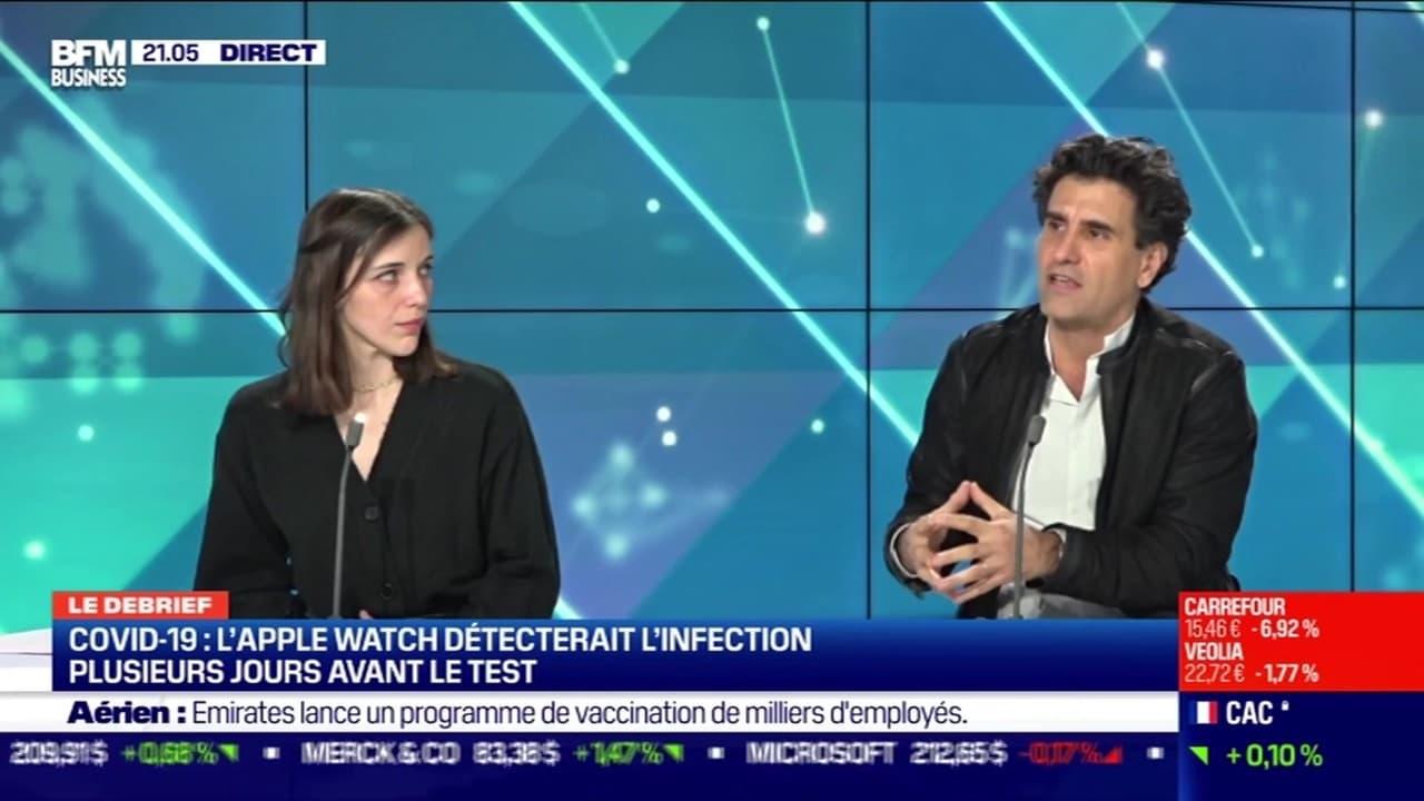 Covid-19 : l'Apple Watch détecterait l'infection plusieurs jours avant le test - 18/01