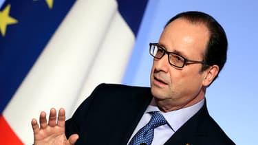 François Hollande le 30 octobre 2014 à l'occasion d'une réunion sur la simplification de l'administration française.