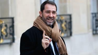 Christophe Castaner à la sortie du Conseil des ministres, le 20 décembre 2017