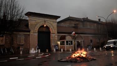 Devant la prison de Fresnes, le 16 janvier 2018.