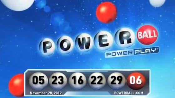 Capture d'écran tu tirage du 28 novembre 2012 de la loterie du Powerball
