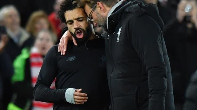 Mohamed Salah et Jürgen Klopp