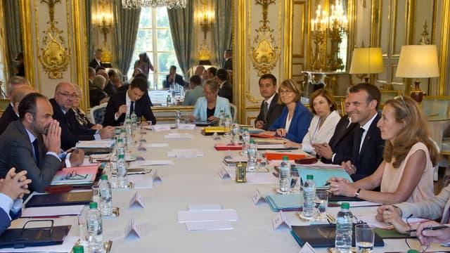 Conseil des ministres le 3 août 2018.