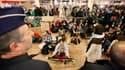Manifestation de militants pro-palestiniens à l'aéroport Zaventem de Bruxelles. Les autorités israéliennes se sont préparées à l'arrivée possible ce dimanche de plusieurs centaines de militants pro-palestiniens européens dans le cadre d'une opération bapt