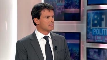Manuel Valls, dimanche, sur le plateau de BFMTV.