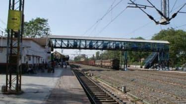 La gare du village de Khandwa, d'où est originaire Saroo.