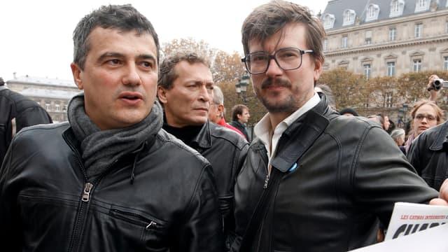 Patrick Pelloux, à gauche aux côtés de Luz, est arrivé sur les lieux de l'attentat peu après le départ des tireurs (photo d'illustration).