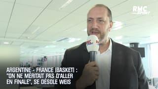 """Argentine – France (Basket) : """"On ne méritait pas d'aller en finale"""", se désole Weis"""