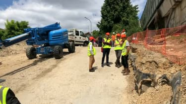 Les travaux du viaduc de Gennevilliers