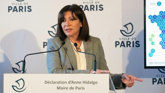 Conférence de presse d'Anne Hidalgo, le 1er mars 2021 à Paris