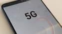 Un smartphone connecté en 5G.