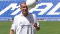 Zinedine Zidane lors de son arrivée au Real Madrid