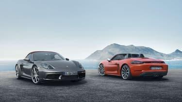Porsche dévoile les premières images de son cabriolet 718 Boxster.