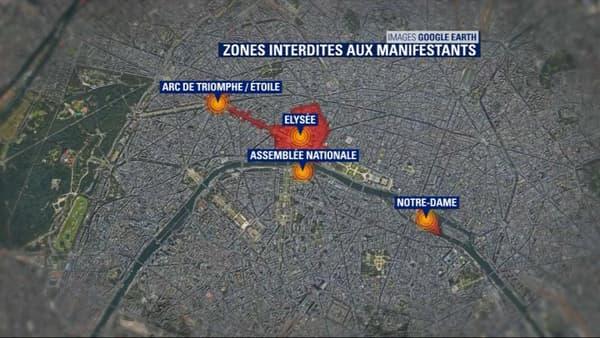 Les zones interdites à Paris
