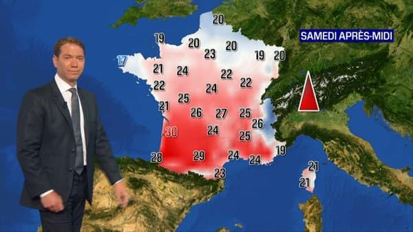 Les températures de ce samedi