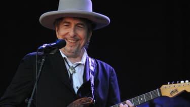 Bob Dylan sur scène.
