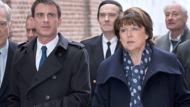 Martine Aubry et Manuel Valls à Lille en mai 2015.