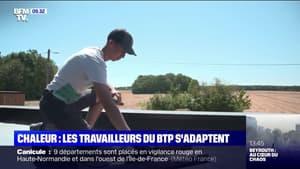 Canicule: les travailleurs du BTP doivent s'adapter pour travailler