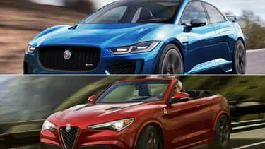 Le designer X-Tomi a imaginé une version très sportive du SUV électrique Jaguar, le I-Pace RS et la version découvrable du crossover Alfa Romeo Stelvio.