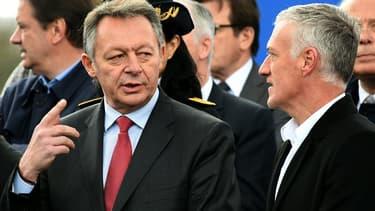 Le secrétaire d'État Thierry Braillard (ici en compagnie de Didier Deschamps) a copiloté le projet.